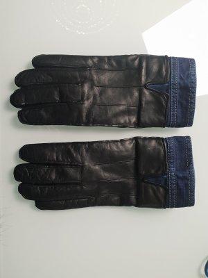 Dsquared2 Gevoerde handschoenen zwart-blauw