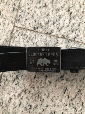 Dsquared Ledergürtel schwarz