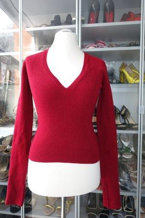 DSQUARED Pullover, mit V-Neck und extra langen Ärmeln, sehr körpernah geschnitten, Gr. M
