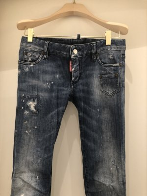 Dsquared Skinny Jeans Used Look mit ZIP