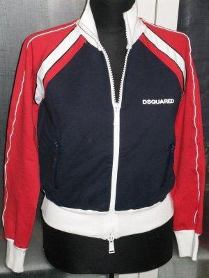 DSQUARED Sweatshirtjacke Gr. rot/blau