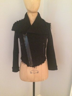 Dsquared Tweed Kurz Biker Jacke Gr. 36 top Zustand
