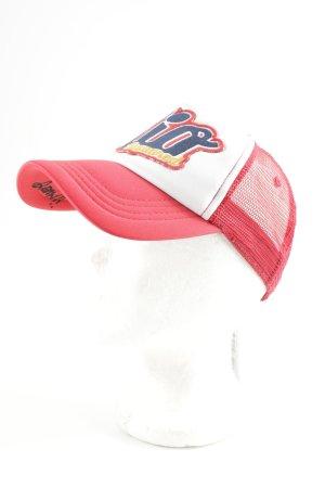 Dsquared2 Baseballpet rood-wolwit geborduurde letters casual uitstraling