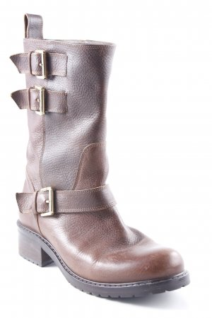 Dsquared2 Booties braun Biker-Look