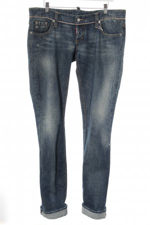 Dsquared2 Boyfriendjeans dunkelblau Casual-Look