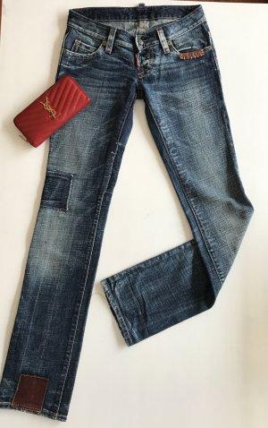 Dsquared2 Damen slim jeans Mit Patches IT38 D34/36 XS