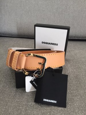 Dsquared2 Ceinture en cuir rose chair