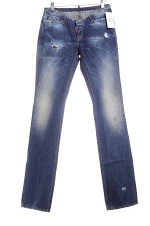 Dsquared2 Jeans blau Farbtupfermuster Casual-Look