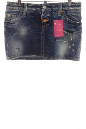 Dsquared2 Jeansrock stahlblau Casual-Look