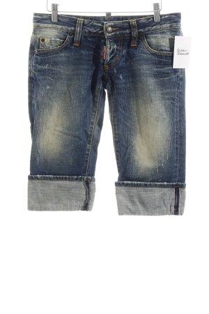 Dsquared2 Jeansshorts blau Used-Optik