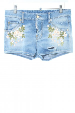 Dsquared2 Jeansshorts blau Blumenmuster Casual-Look