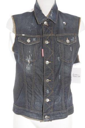 Dsquared2 Jeansweste weiß-blau extravaganter Stil