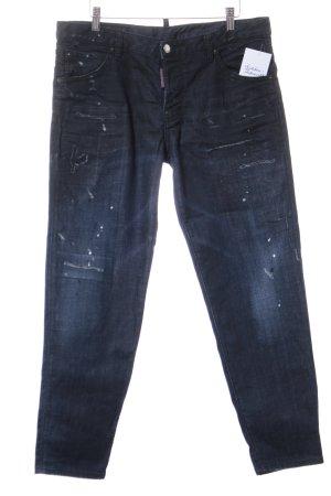 Dsquared2 Karottenjeans dunkelblau-stahlblau Farbverlauf Casual-Look