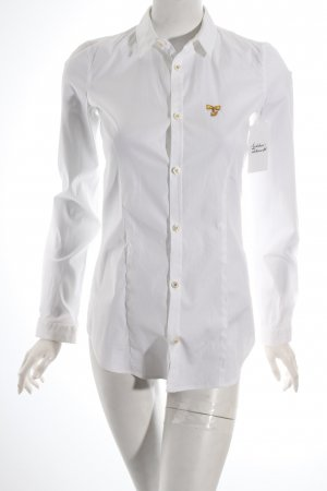 Dsquared2 Langarm-Bluse weiß klassischer Stil