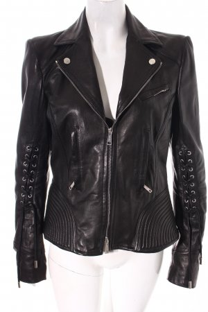 Dsquared2 Lederjacke schwarz Street-Fashion-Look