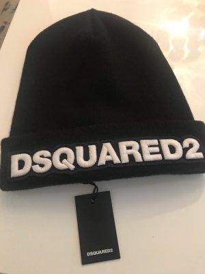 Dsquared2 Chapeau en tricot noir laine