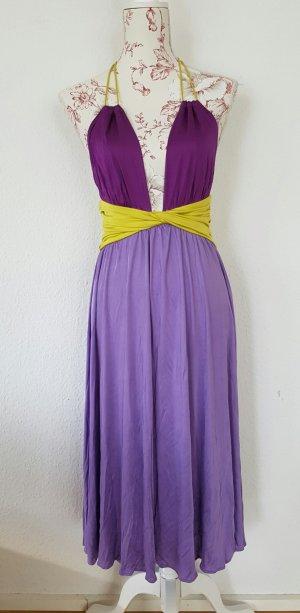 Dsquared2 Neckholder Kleid rückenfrei aus fließender Viskose gr S