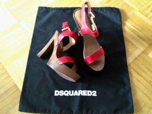 Dsquared2 rote High-Heel Sandeletten