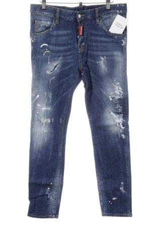 Dsquared2 Skinny Jeans blau Destroy-Optik