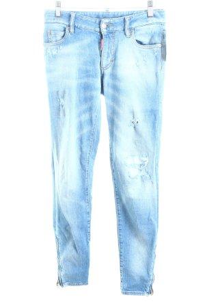 Dsquared2 Skinny Jeans hellblau Destroy-Optik