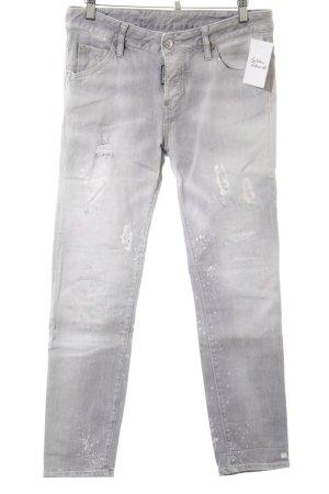 Dsquared2 Slim Jeans Farbtupfermuster Used-Optik