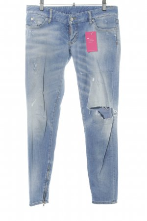 Dsquared2 Slim Jeans hellblau Destroy-Optik