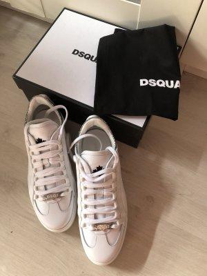 Dsquared2 Sneaker weiß Silber Glitzer