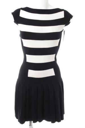Dsquared2 Strickkleid schwarz-weiß Streifenmuster Casual-Look