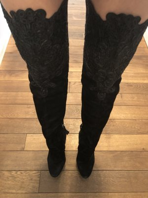 Dsquared2 Suede over knee boots