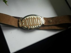 dsquared2 vintage Gürtel echtes Leder