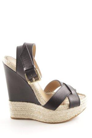 Dsquared2 Wedges Sandaletten schwarz Business-Look