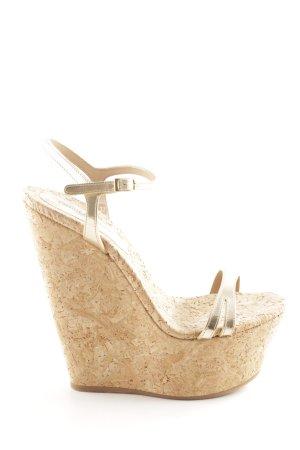 Dsquared2 Wedges Sandaletten goldfarben extravaganter Stil