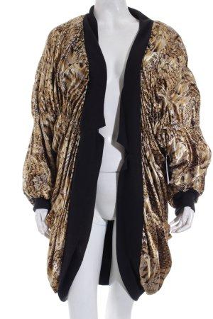 DT Company Oversized Jacke goldfarben-schwarz abstraktes Muster Vintage-Artikel