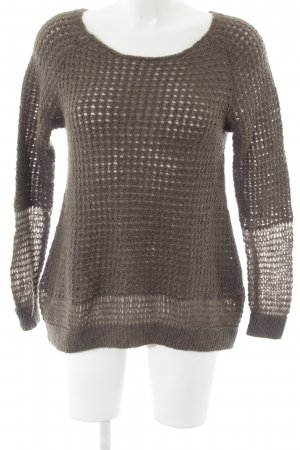 dtLm Don't Label me Strickpullover khaki-silberfarben Casual-Look