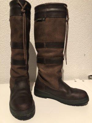 Botas estilo militar marrón-marrón oscuro Cuero