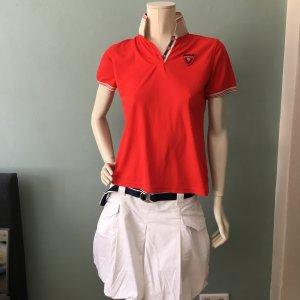 Duca del Cosma Camiseta tipo polo rojo ladrillo Poliéster