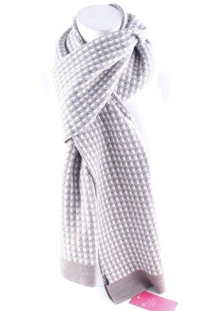 Duca del Cosma Wollschal wollweiß-graulila grafisches Muster klassischer Stil