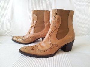 Duccio del Duca Leder Stiefeletten Boots