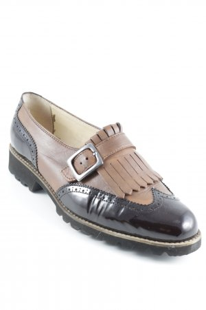 Due Legni Scarpa slip-on cognac-marrone-nero elegante
