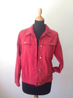dünn leicht weich Jeansjacke Baumwolljacke Trenchjacke rot