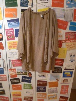 H&M Chaqueta tipo blusa marrón claro-camel