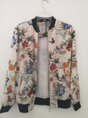 Bershka Bomber Jacket multicolored polyester
