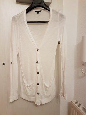 Dünne Cardigan-Jacke (S) in Weiß von Amisu