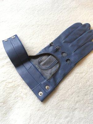Windsor Gants en cuir bleu azur-bleu acier cuir