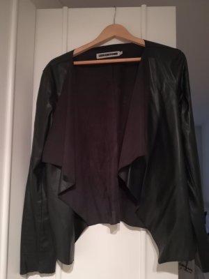 Dünne Jacke aus Lederimitat