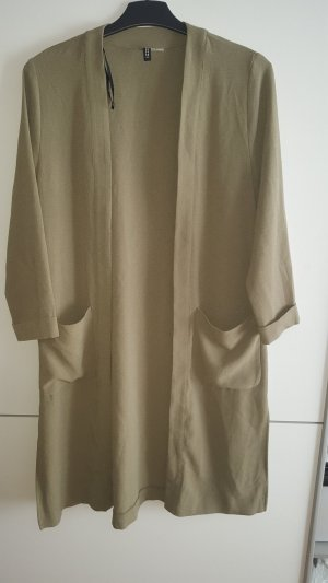 H&M Long Jacket green grey-khaki