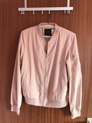 Zara Basic Chaqueta tipo blusa rosa empolvado