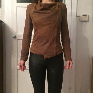 Zara Veste en cuir synthétique multicolore faux cuir