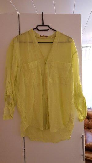 Dünne Oversize-Bluse im Knitterlook