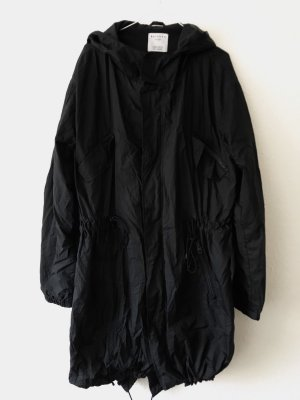 Bershka Heavy Raincoat black